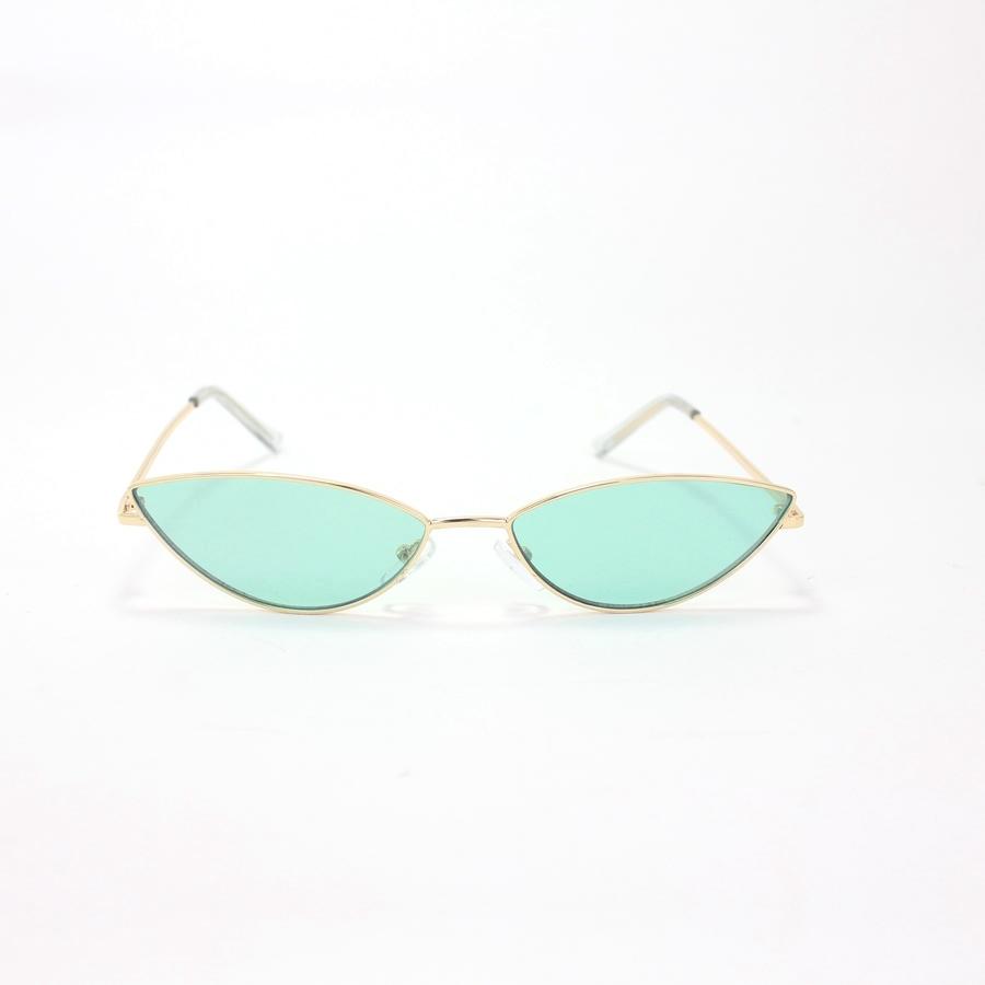 Gentle Gold Çerçeveli Küçük Cat Eye Güneş Gözlüğü Mint Yeşil