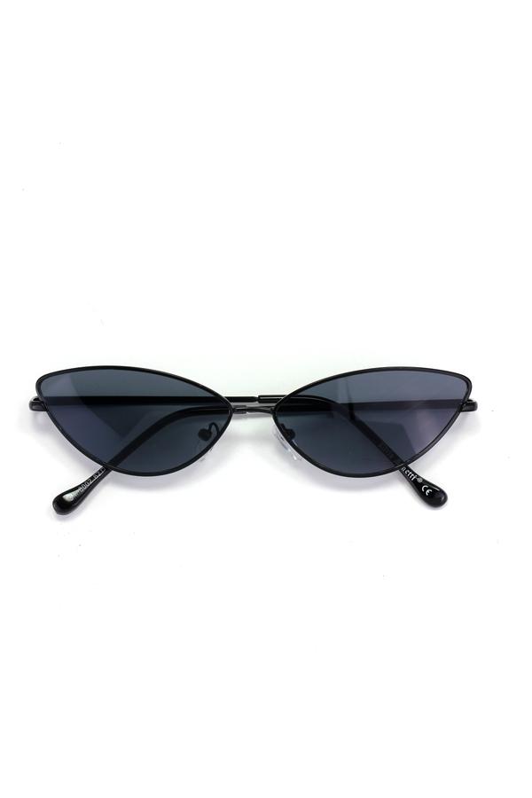 Gentle Siyah Çerçeveli Küçük Cat Eye Güneş Gözlüğü New Siyah