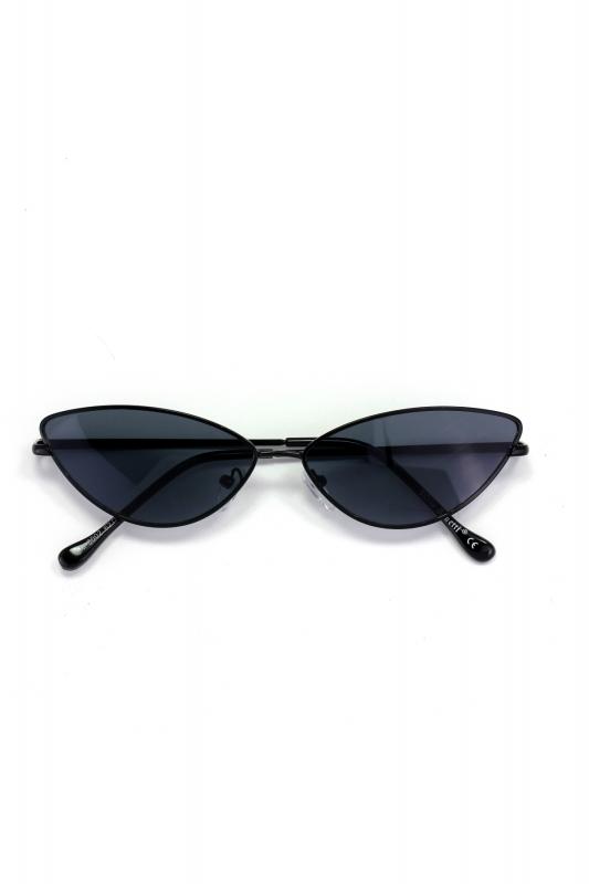 Gentle Siyah Çerçeveli Küçük Cat Eye Güneş Gözlüğü Siyah