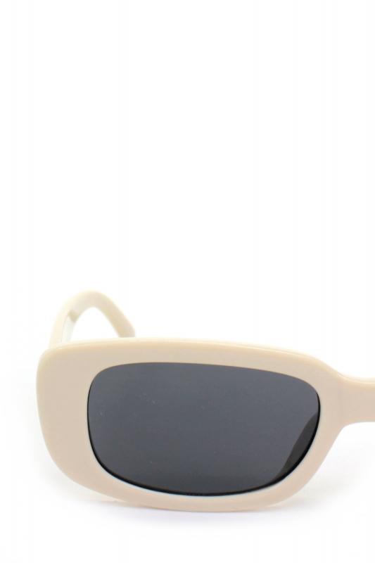 Ginger Füme Camlı Dikdörtgen Güneş Gözlüğü Krem Rengi
