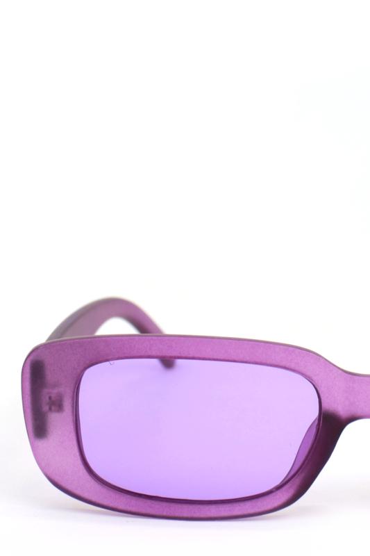 Ginger Lila Camlı Dikdörtgen Güneş Gözlüğü Mat Lila