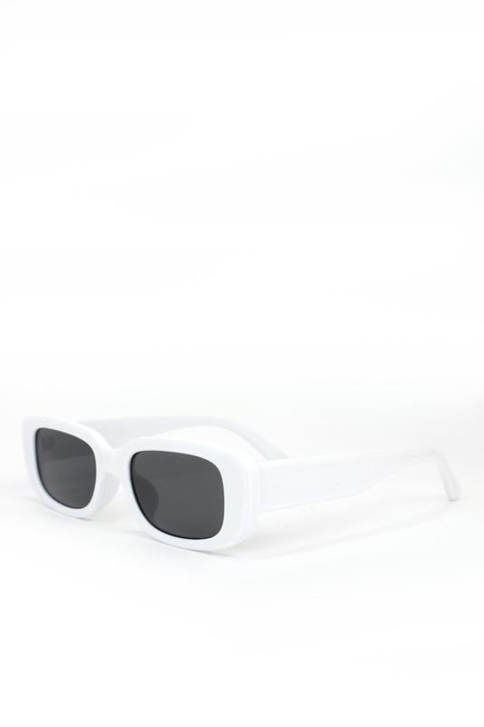Ginger Siyah Camlı Dikdörtgen Güneş Gözlüğü Beyaz