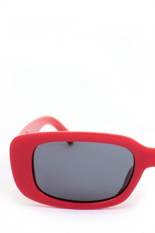 Ginger Siyah Camlı Dikdörtgen Güneş Gözlüğü Kırmızı