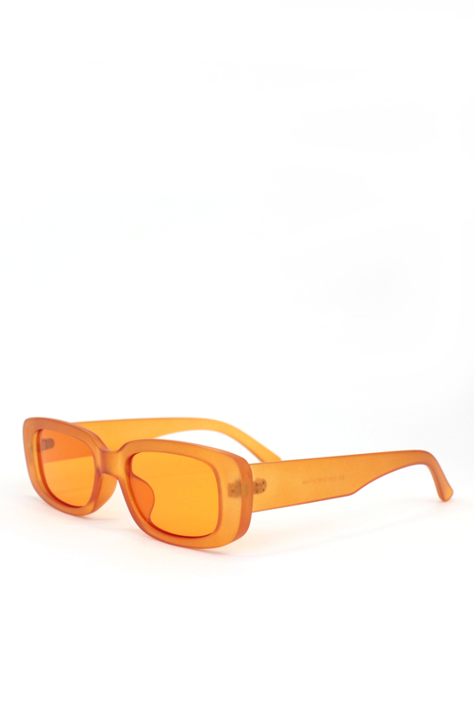Ginger Turuncu Camlı Dikdörtgen Güneş Gözlüğü Mat Turuncu