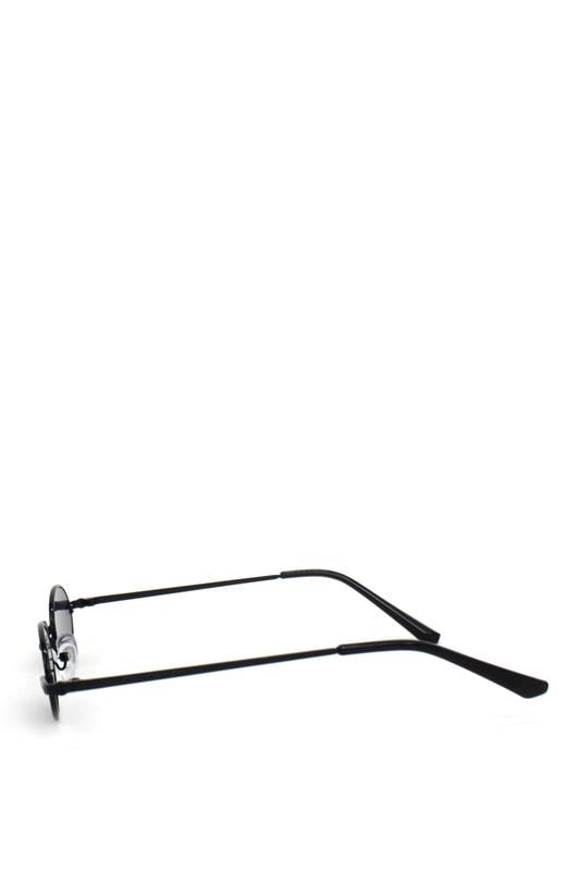 Harpers Retro Siyah Metal Çerçeveli Küçük Oval Güneş Gözlüğü Siyah