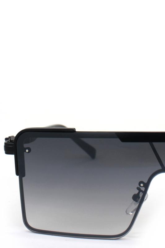 Haterblockers Siyah Metal Çerçeveli Büyük Dikdörtgen Unisex Güneş Gözlüğü Degrade Siyah
