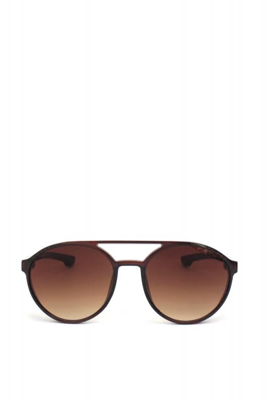 Hot Steampunk Degrade Kahverengi Camlı Yuvarlak Unisex Güneş Gözlüğü Parlak Kahverengi