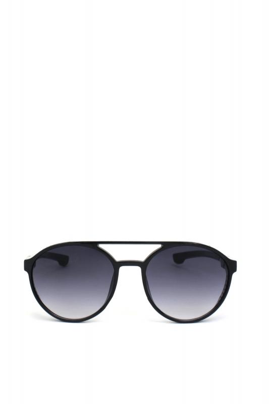 Hot Steampunk Siyah Degrade Camlı Yuvarlak Unisex Güneş Gözlüğü Parlak Siyah