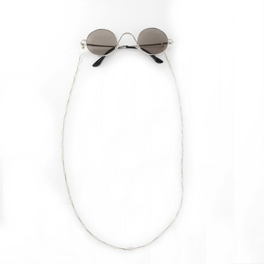 İnce Çubuklu Zarif Gözlük Zinciri Silver