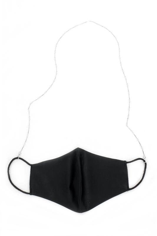 İnce Çubuklu Zarif Maske Zinciri Silver 75cm