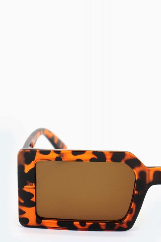 Jaded Kare Erkek Güneş Gözlüğü Leopar