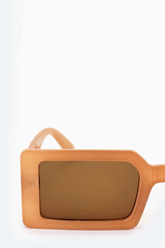 Jaded Küçük Kare Bayan Güneş Gözlüğü Karamel
