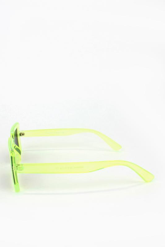 Jaded Küçük Kare Bayan Güneş Gözlüğü Neon Yeşil