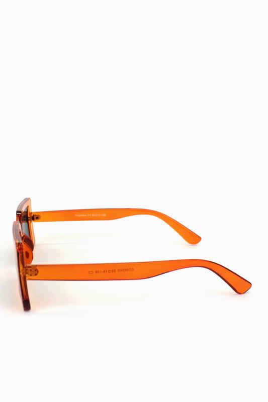 Jaded Küçük Kare Bayan Güneş Gözlüğü Turuncu