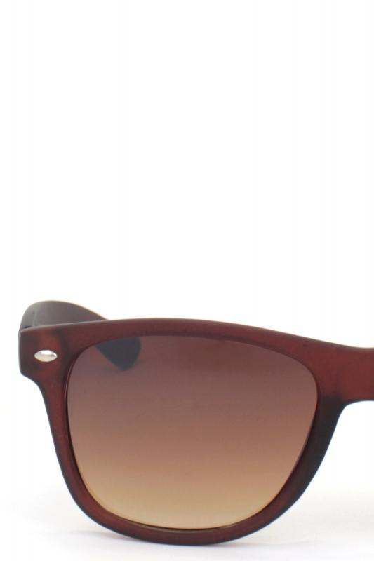 Just-in Kare Çerçeveli Klasik Bayan Güneş Gözlüğü Mat Kahverengi