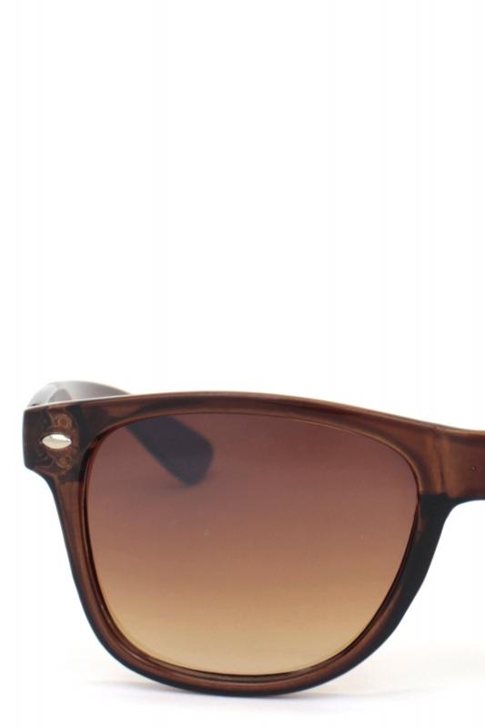 Just-in Kare Çerçeveli Klasik Erkek Güneş Gözlüğü Parlak Kahverengi