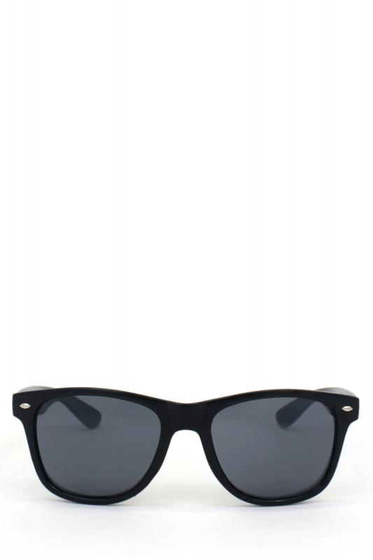 Just-in Kare Çerçeveli Klasik Erkek Güneş Gözlüğü Parlak Siyah