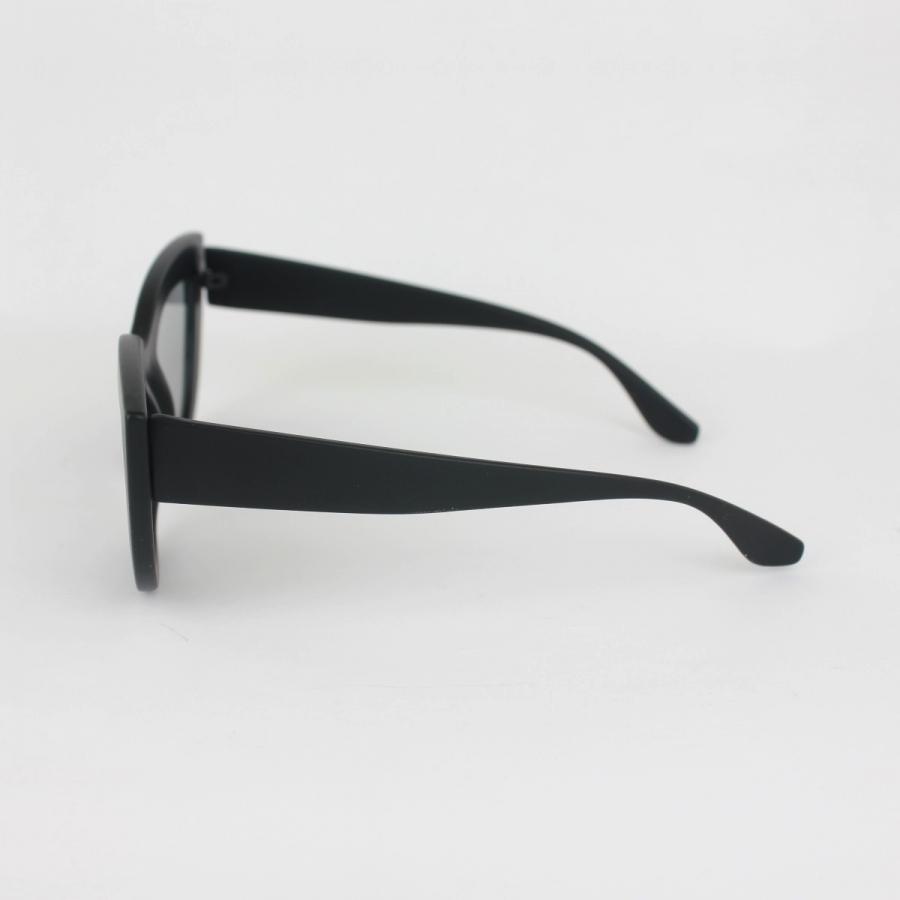 Kalın Çerçeveli Tasarım Cat Eye Güneş Gözlüğü Şeffaf Mat Siyah