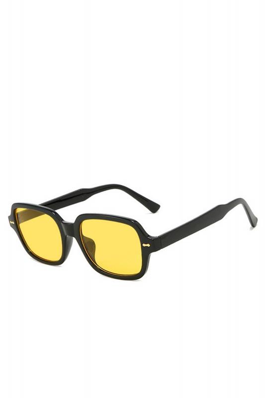 Kors Sarı Camlı Kare Kemik Çerçeveli Bayan Güneş Gözlüğü Siyah