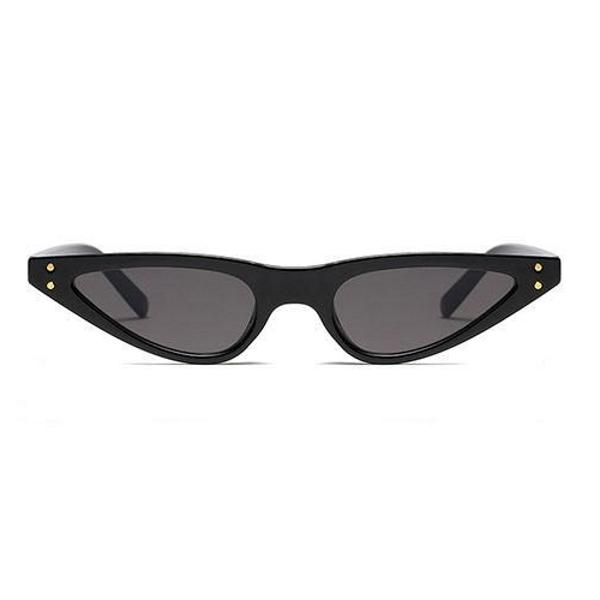 Küçük Üçgen Cat-Eye Bayan Güneş Gözlüğü Siyah