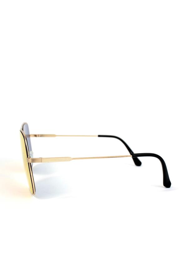 Light Bridge Gold Metal Çerçeveli Pilot Unisex Güneş Gözlüğü Aynalı Kırmızı