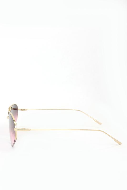 Look Gold Metal Çerçeveli Cat Eye Unisex Güneş Gözlüğü Degrade Pembe