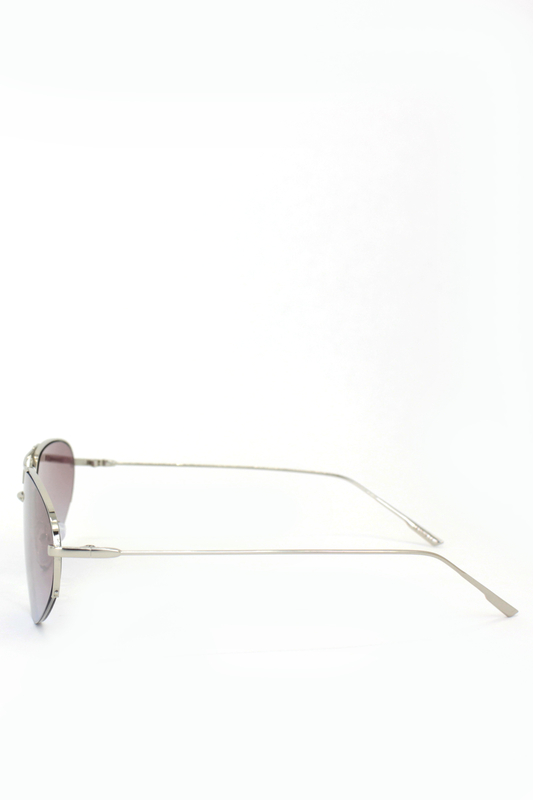 Look Silver Metal Çerçeveli Cat Eye Unisex Güneş Gözlüğü Degrade Kahverengi Gri
