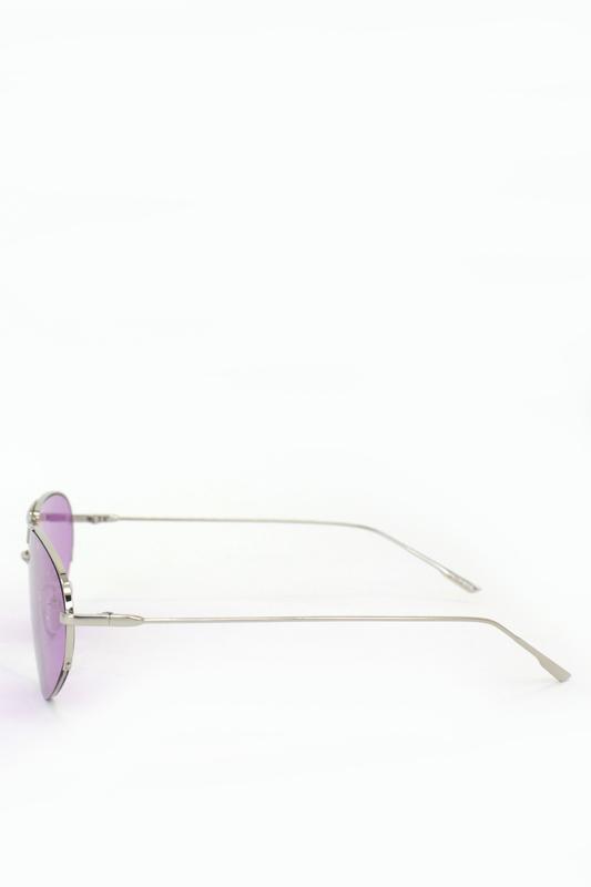 Look Silver Metal Çerçeveli Cat Eye Unisex Güneş Gözlüğü Mor