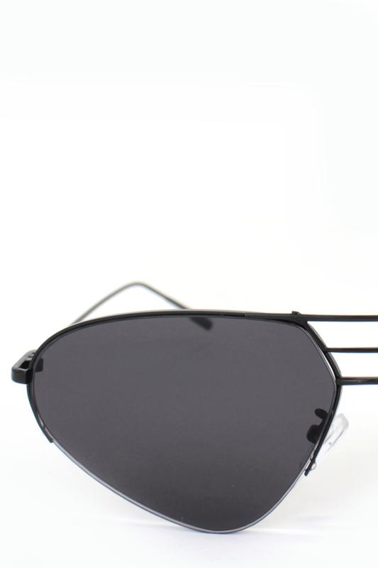 Look Siyah Metal Çerçeveli Cat Eye Unisex Güneş Gözlüğü Degrade Siyah