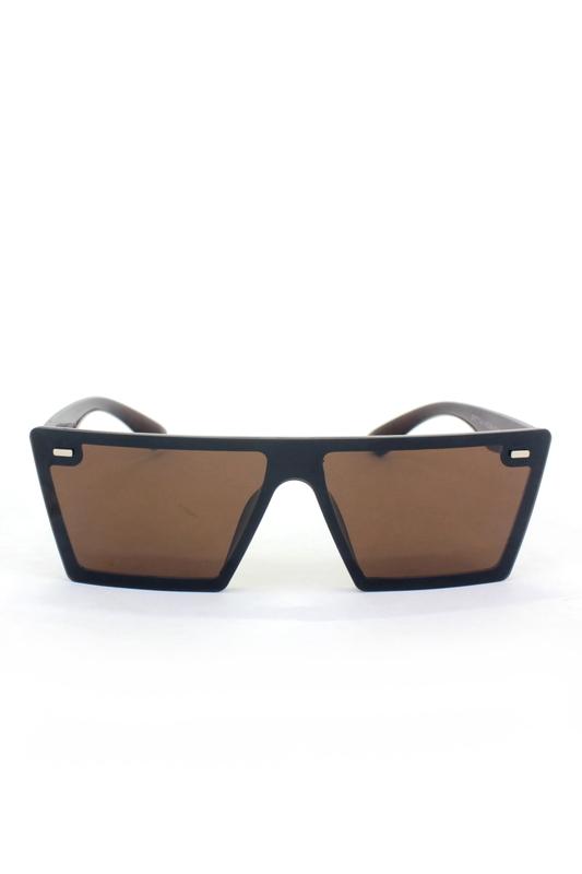 Lotta Kare Büyük Güneş Gözlüğü Kahverengi