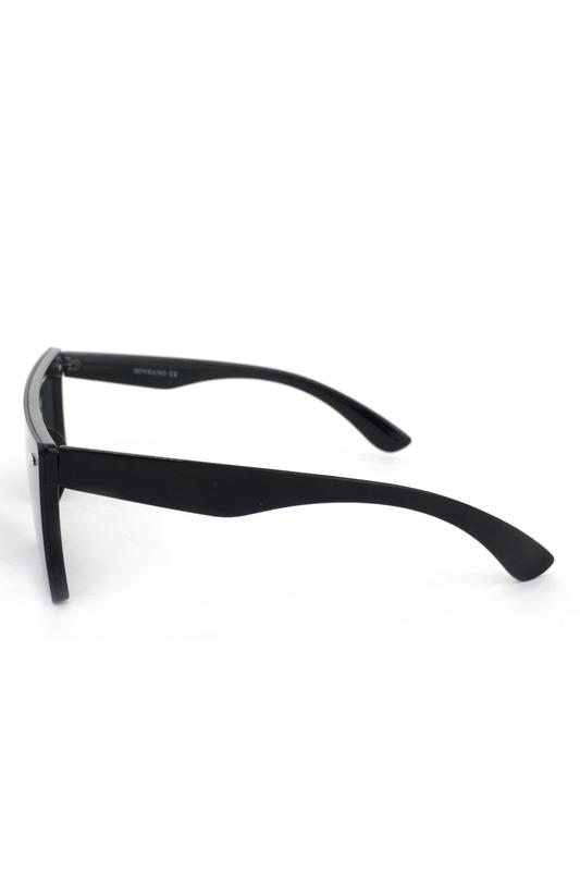 Lotta Kare Büyük Güneş Gözlüğü Siyah