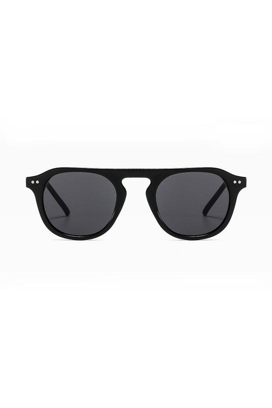 Lovable Siyah Camlı Yuvarlak Kemik Çerçeveli Unisex Güneş Gözlüğü Siyah