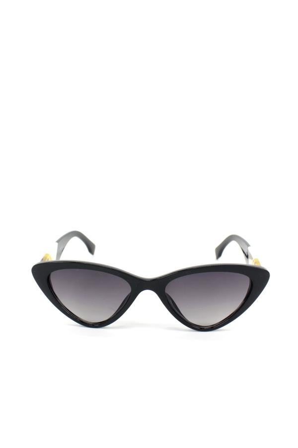 Lucy Beyaz Leopar Saplı Cat Eye Güneş Gözlüğü Siyah