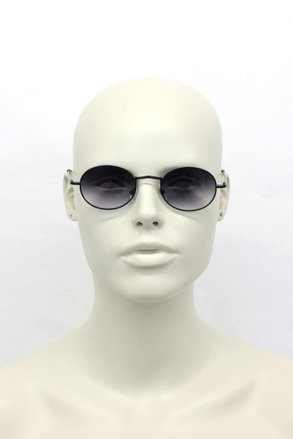 Lucy Siyah Metal Çerçeveli Küçük Yuvarlak Unisex Güneş Gözlüğü Degrade Siyah