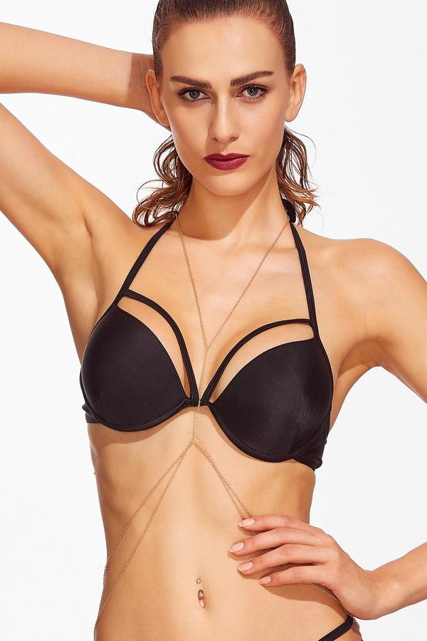 Made For You Bikini Zincirli Vücut Takısı Gold