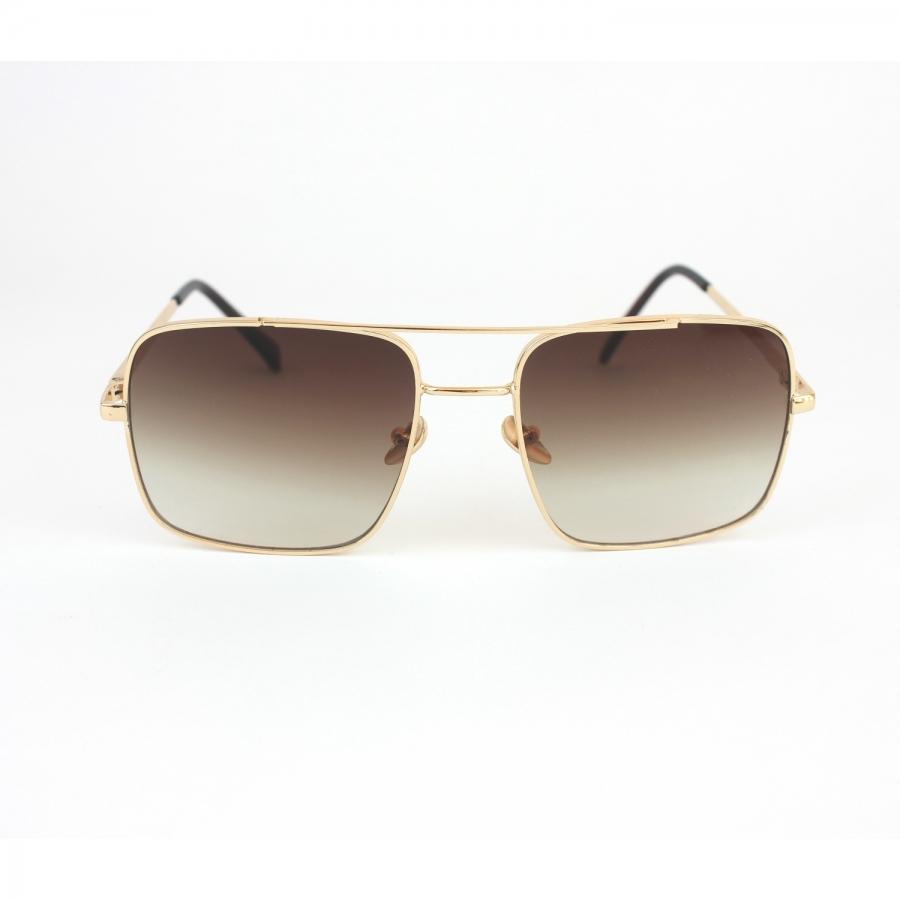 Mexx Gold Metal Çerçeveli Kahverengi Camlı Kare Köşeli Unisex Güneş Gözlüğü