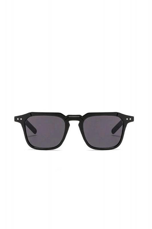 Mist Siyah Camlı Kare Kemik Çerçeveli Unisex Güneş Gözlüğü Siyah