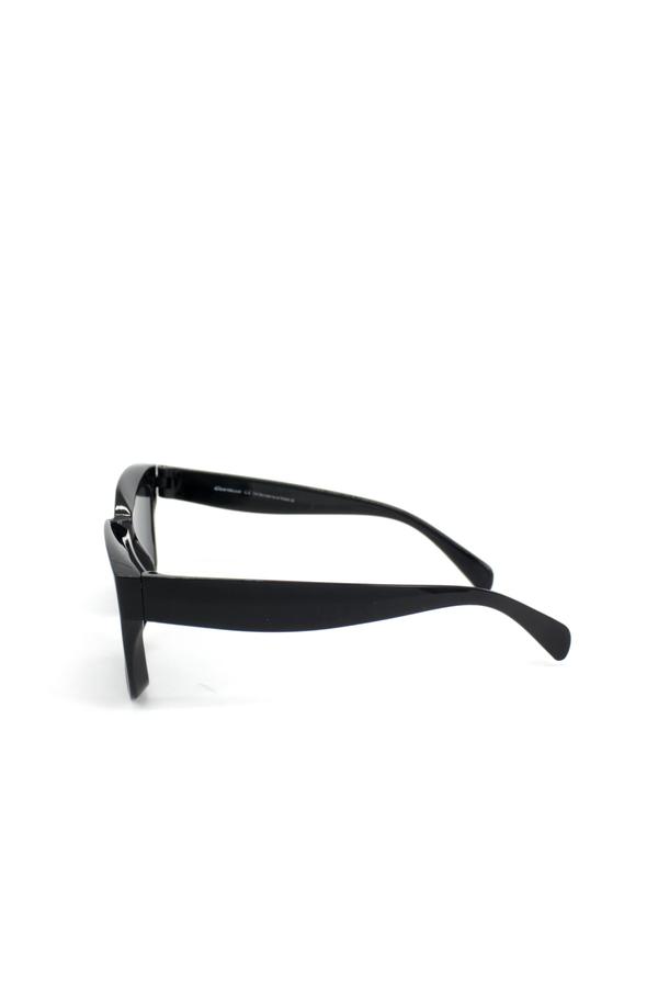 New Mia Kalın Kemik Çerçeveli Dikdörtgen Güneş Gözlüğü Siyah