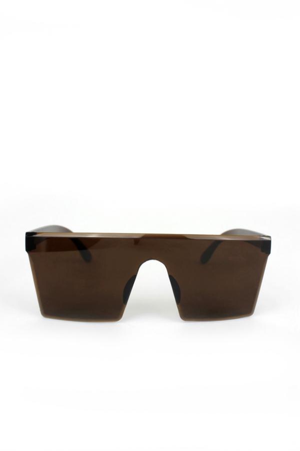 Newlook Büyük Kare Unisex Güneş Gözlüğü Kahverengi