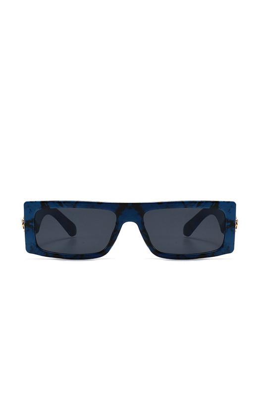 Nico Köşeli Dikdörtgen Çerçeveli Erkek Güneş Gözlüğü Lacivert