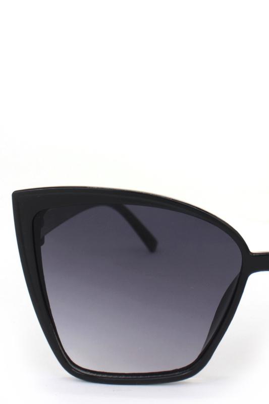 Nicola Siyah Degrade Camlı Cat Eye Bayan Güneş Gözlüğü Siyah
