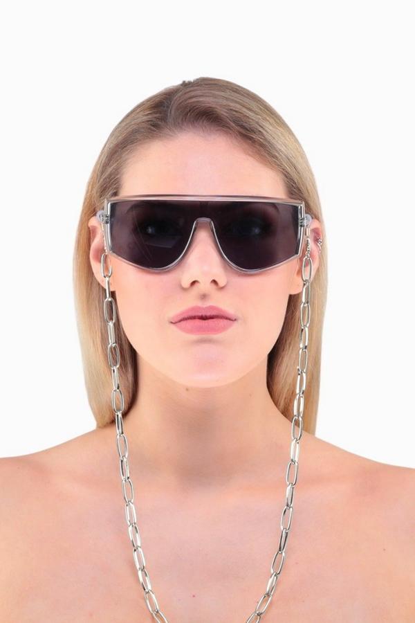 Nova Uzun Oval Zinciri Gözlük Zinciri Silver