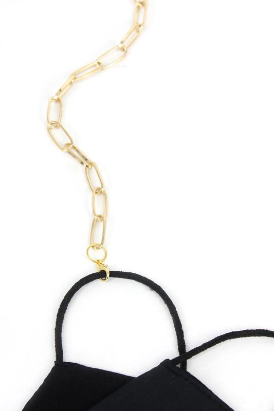 Nova Uzun Oval Zinciri Maske Zinciri Gold 75cm