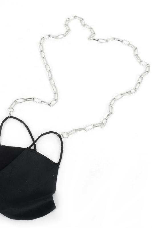 Nova Uzun Oval Zinciri Maske Zinciri Silver 75cm