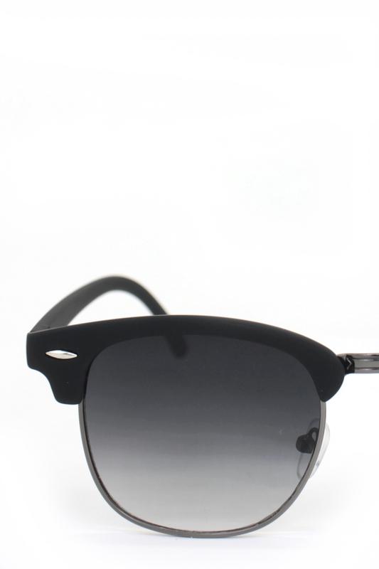 Old School Degrade Siyah Camlı Cat Eye Unisex Güneş Gözlüğü Silver Mat Siyah