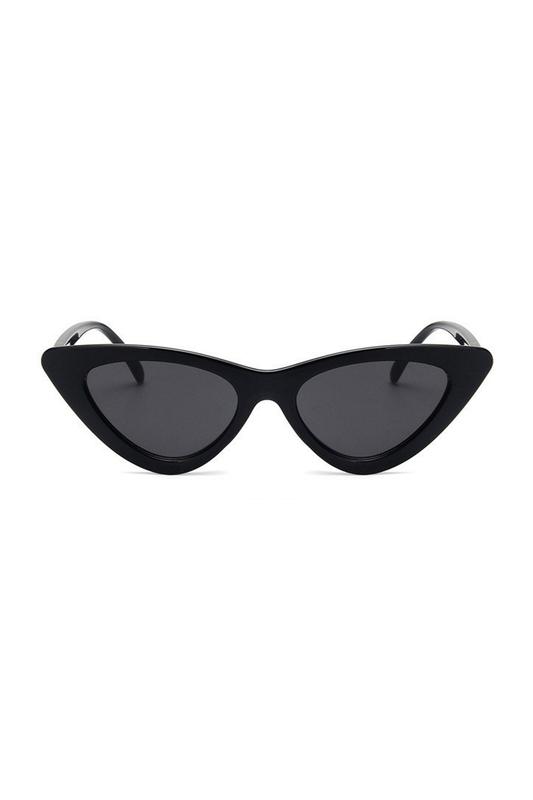 Retro Üçgen Cat Eye Güneş Gözlüğü New Siyah