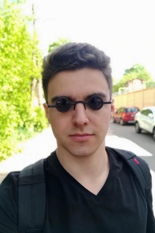 Retrofit Küçük Yuvarlak Çerçeveli Erkek İmaj Güneş Gözlüğü Mat Siyah