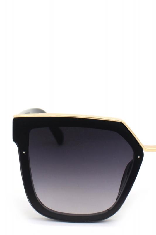 Romy Siyah Degrade Camlı Kare Bayan Güneş Gözlügü Gold Siyah
