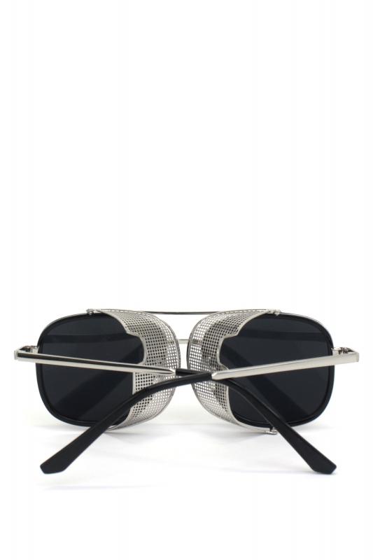 Sawyer Silver Metal Çerçeveli Yanı Kalkanlı Unisex Güneş Gözlüğü Siyah