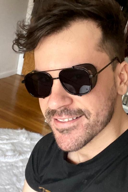 Sawyer Siyah Metal Çerçeveli Yanı Kalkanlı Unisex Güneş Gözlüğü Siyah